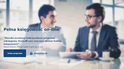 nowa wersja strony programu księgowości online
